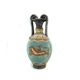 Greek Pottery Minoan Amphora Octopus and Bull leaping - knossos shop